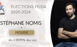L'ancien judoka Stéphane Nomis a été élu avec 59,99% des voix président de la Fédération française de judo, le 22 novembre 2020.