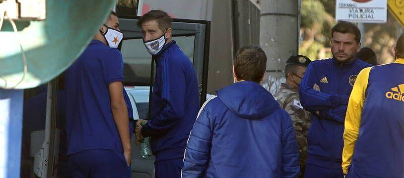 Les joueurs de Boca Juniors au Brésil.