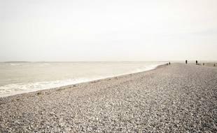 Vue de la pointe du Hourdel, sur le littoral de la baie de Somme.