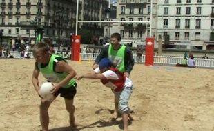 20minutes a testé le rugby à Paris-Plages.