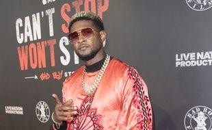 Le chanteur Usher à Los Angeles.