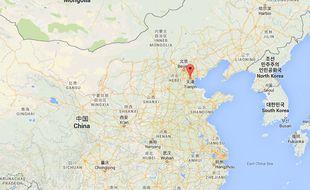 Googlemap de Tianjin en Chine.