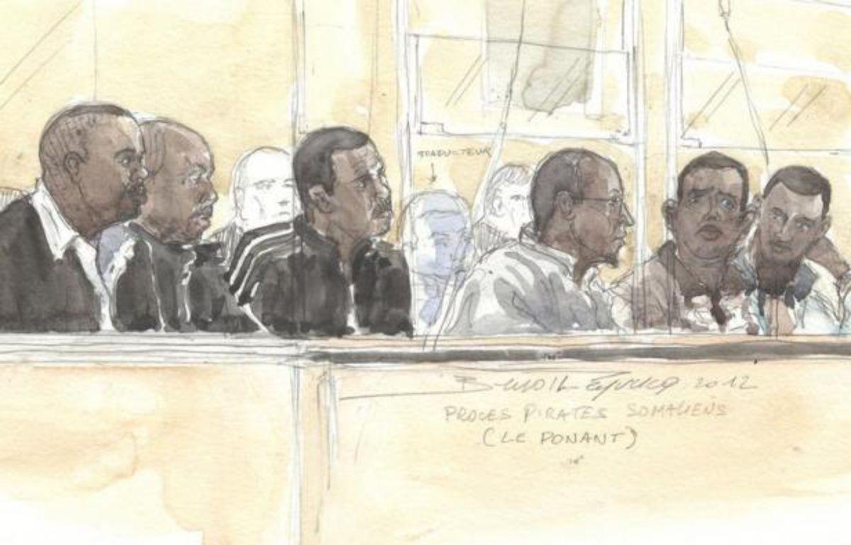 Les six accusés Somaliens de la prise d'otages du voilier Le Ponant il y a quatre ans seront fixés jeudi sur leur sort, la cour d'assises de Paris devant rendre son verdict en fin de journée. – Benoit Peyrucq afp.com