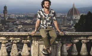 Claudio Capéo à Florence (Italie), durant l'été 2020, où il a enregistré son album Penso a te.