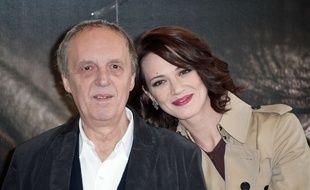 Le réalisateur italien Dario Argento et sa fille Asia Argento, à Rome en 2012.