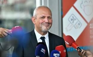 Le directeur général de la santé, Jérôme Salomon devant la presse le 20 août 2021.