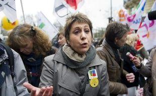 """Bernadette Groison, secrétaire générale de la FSU, qui était reçue lundi par François Hollande, a affirmé qu'ils avaient discuté, notamment, des conditions de la rentrée 2012, ajoutant qu'elle avait trouvé le candidat du PS à la présidentielle """"à l'écoute""""."""