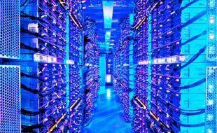 L'un des centres de données de Microsoft, à Chicago, aux Etats-Unis.