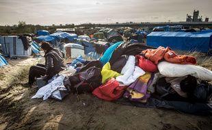 "Dans la ""jungle"" de Calais, le 29 octobre 2015"
