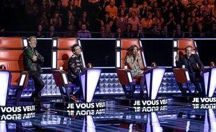 Florent Pagny, au côté de Mike, Zazie et Garou sur le plateau de «The Voice» 5.