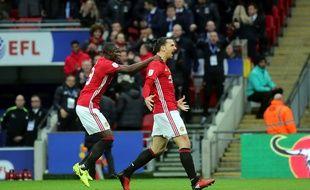 Zlatan Ibrahimovic fête un but contre Southampton le 26 février 2017.