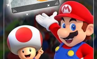 Capture d'écan Mario Kart Tour, jeu édité par Nintendo sur mobile lancé en France le 25 septembre 2019