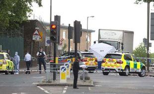 Scène du drame àWoolwich, dans le sud-est de Londres, le 22 mai 2013.