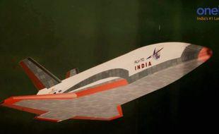 RLV-TD, le prototype de navette spatiale lancé par l'agence spatiale indienne (Isro), le 23 mai 2016.