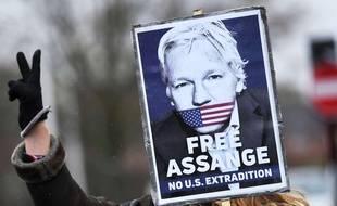 Manifestation le 28 février de partisans de la libération de Julian Assange.