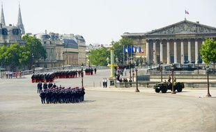Le défilé militaire du 14 juillet, le 14 juillet 2013 à Paris.