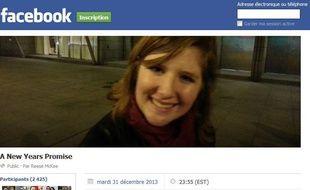 Capture d'écran de l'événement Facebook créé par un Néo-Zélandais pour retrouver une jeune fille rencontrée à Hong Kong, le 31 décembre 2012.