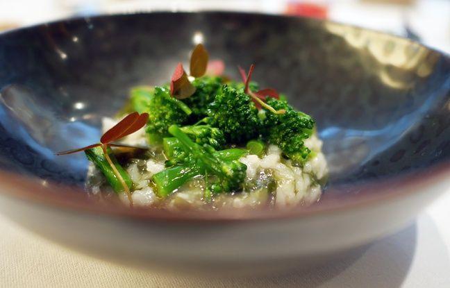 Le risotto de brocolini et d'algues nori fraiches du restaurant Etude