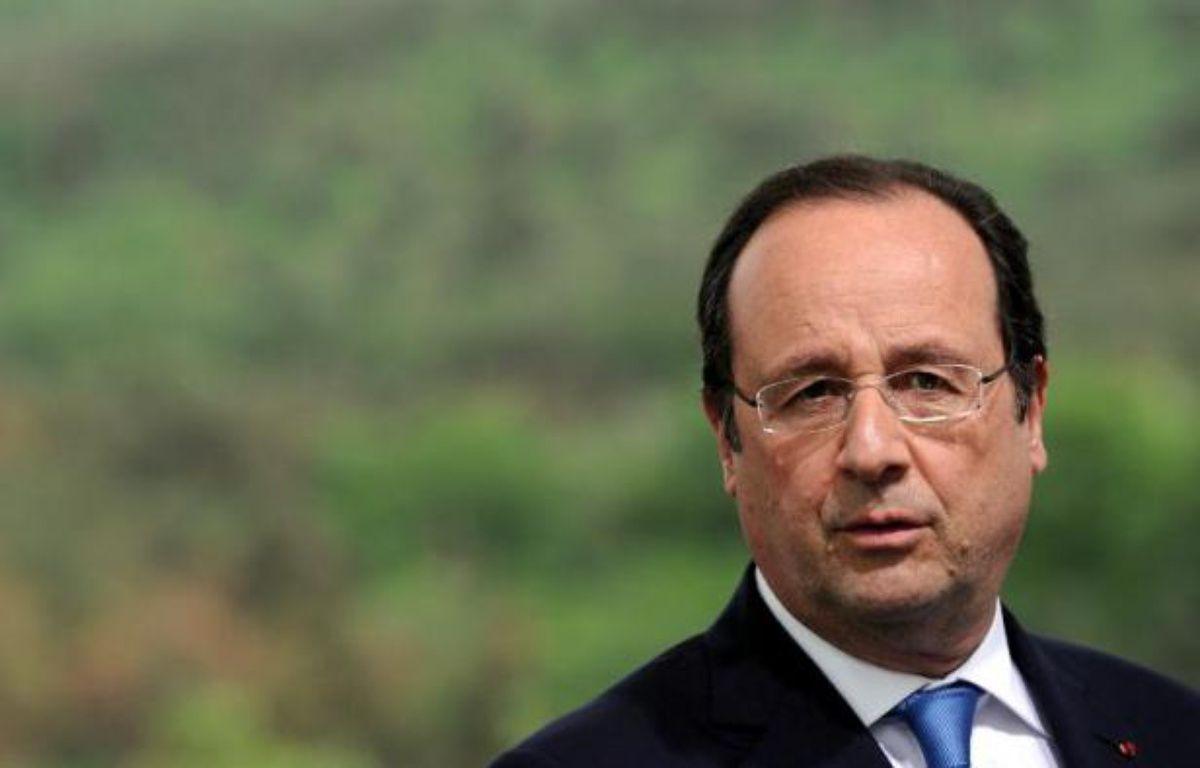 Le président François HOllande à Tbilissi le 13 mai 2014 – Stéphane de Sakutin POOL