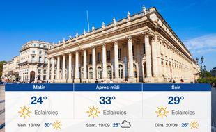 Météo Bordeaux: Prévisions du jeudi 17 septembre 2020