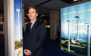 Jean-Michel Germa, fondateur de la Compagnie du Vent, en 2002.