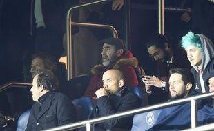 VIP en tribune Eric  Cantona Paris Saint-Germain v Manchester United, UEFA Champions League, Round of 16, 2nd leg, Football, Parc des Princes, Paris, France - 06 Mar 2019