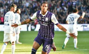 Le défenseur du TFC Christopher Jullien, buteur contre Lyon en Ligue 1 le 29 octobre 2016, au Stadium de Toulouse.
