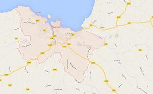 La ville de Douarnenez, dans le Finistère (Bretagne).