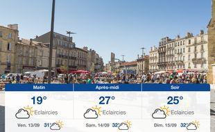 Météo Bordeaux: Prévisions du jeudi 12 septembre 2019