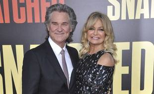 Le couple d'acteurs Kurt Russell et Goldie Hawn