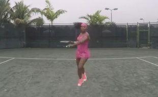Capture d'écran de la vidéo tournée par Serena Williams dans laquelle elle reprend le tube