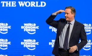 Le Premier ministre britannique, David Cameron, le 21 janvier 2016 à Davos