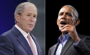 George W. Bush et Barack Obama ont tous les deux critiqués la politique de Donald Trump, le 19 octobre 2017.