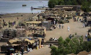Vue de la ville de Gao, sur les bords du fleuve Niger, le 4 avril 2013
