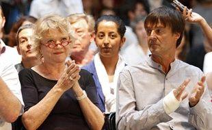 Eva Joly et Nicolas Hulot lors du débat de Lille avant la primaire écologiste, le 15 juin 2011.