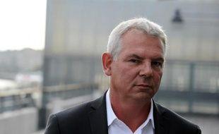 Le secrétaire général de la CGT Thierry Lepaon, le 9 octobre 2014 à Bordeaux