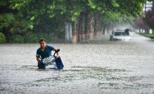Les inondations à Zhengzhou le 20 juillet 2021.