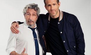 Alain Chabat reçoit Ryan Reynolds dans le «Burger Quiz» le 9 mai 2018 sur TMC.