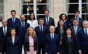 Une partie du gouvernement d'Edouard Philippe à l'Elysée, le 17 octobre 2018.