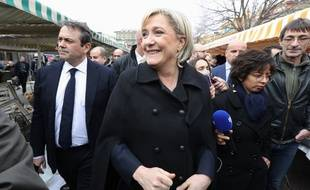 Marine Le Pen, présidente et candidate du Front national à la présidentielle, le 13  février 2017 à Nice