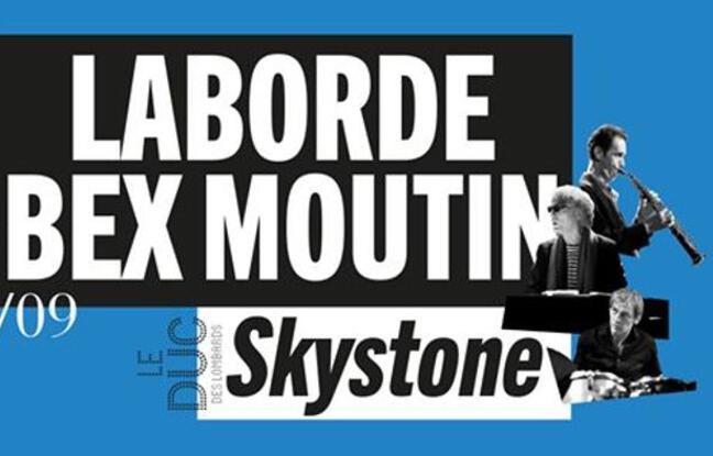 Visuel officiel du concert du trio Bew - Laborde - Moutin / Skytone