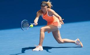 Maria Sharapova à l'Open d'Australie le 26 janvier 2016.