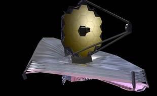 Vue d'artiste du téléscope spatial James-Webb, qui devra succéder à Hubble en 2018.