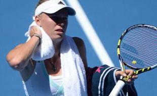 La joueuse de tennis Caroline Wozniacki, le 14 janvier 2014, lors de l'Open d'Australie, à Melbourne.