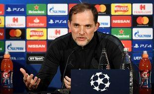 Thomas Tuchel en conférence de presse avant Manchester United-PSG en Ligue des champions, le 11 février 2018.