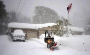 Neige à Buffalo dans l'Est des Etats-Unis en novembre 2014