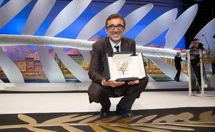 Nuri Bilge Ceylan et sa palme d'or en mai 2014 à Cannes