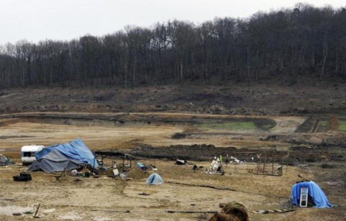 Le campement des zadistes près du site contesté de retenue d'eau à Sivens (Tarn) le 6 janvier 2015 – Pascal Pavani AFP