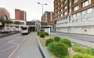 La station de métro Villeneuve d'Ascq-Hôtel de ville.