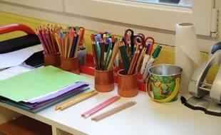 Illustration: une classe de primaire.